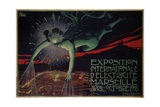 L'Exposition De L'electricite Marseille Posters by David Paolo Dellepiane