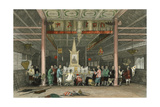 Temple Buddha Canton Posters by Thomas Allom