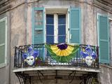 French Quarter Balcony During Mardi Gras Photo by Carol Highsmith