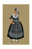 Burgundian Woman from the Vicinity of from Macon in a Lace Fress Prints by Elizabeth Whitney Moffat