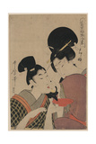 Two Women, One Pouring Tea Posters