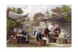 Silk Feeding Silkworms Prints by Thomas Allom