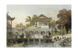 Canton Fountain Court Prints by Thomas Allom