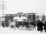 Midwinter Carnival, Entrance to Pontiac Rink, Upper Saranac Lake, N.Y. Photo