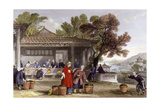 Tea Culture Preparation Print by Thomas Allom