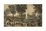 Water Celebration on the Commons - 1848 Poster by  Tappan & Bradford