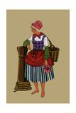 Fisherwoman with Basket from St. Pol Prints by Elizabeth Whitney Moffat