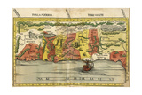 Map of the Holy Land Prints by  Ptolemy