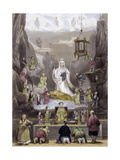 Altar Piece in Temple Prints by Thomas Allom