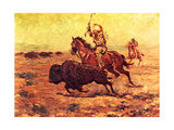Doomed - Indian Hunting Buffalo Print by Charles Shreyvogel