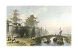 Peking West Gate Print by Thomas Allom