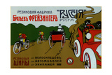 Freizinger Brothers Rubber Plant in Riga for Bicycle and Car Tires Print