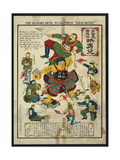 Japan the Peaceful Nation Cartoon Print