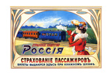 Passenger Insurance - Ticket Issued Here - International Train Service Prints