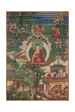 Buddha Shakyamuni and Narrative Scenes Poster