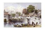 Chapoo Ancient Bridge Print by Thomas Allom