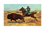 U.S. Cavalry Hunting Buffalo Posters by Charles Shreyvogel