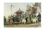 Mandarin Paying Visit Posters by Thomas Allom