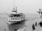 Str. Islander Nearing Frontenac Wharf, Round Island, N.Y. Photo