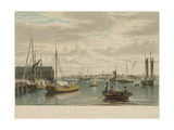 Boston, from the Ship House Prints by W.J. Bennett