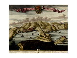 Straits and Defenses at Gibraltar - 1700 Posters by Anna Beeck