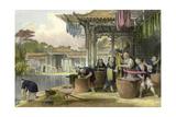 Silk Dyeing Winding Prints by Thomas Allom