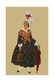 Norman Lady Holds Candle and Umbrella Prints by Elizabeth Whitney Moffat