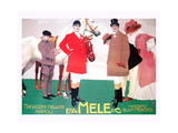 Fashion for the Equestrian Set of Wealthy Patrons Posters by Leopoldo Metlicovitz