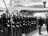 U.S.S. San Francisco, Marine Guard Photo