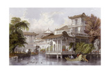 Canton Merchant House Prints by Thomas Allom