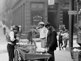 Clam Seller in Mulberry Bend, N.Y. Foto