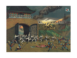Japanese Forces Engage Boxers at Tianjin Prints