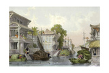 Canton Hunan Canal Prints by Thomas Allom