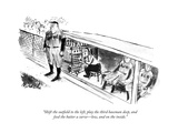 """""""Shift the outeld to the left, play the third baseman deep, and feed the …"""" - New Yorker Cartoon Regular Giclee Print by Joseph Mirachi"""