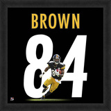 Antonio Brown, Steelers - Framed Photographic Representation Of The Player'S Jersey Framed Memorabilia