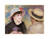 Boating Couple (Aline Charigot and Renoir) Premium Giclee Print by Pierre Auguste Renoir