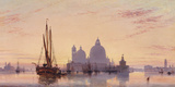 Sunset behind Santa Maria della Salute, Venice, 1851 Giclee Print by E.W. Cooke