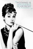 Audrey Hepburn Quote Plakaty