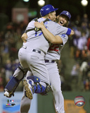 Clayton Kershaw & A.J. Ellis celebrate the Dodgers winning the 2015 National League West Division Photo