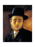 Young Man with Fedora Prints by Isidor Kaufmann