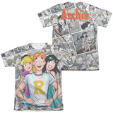 Archie Comics- Archie And Gals (Front/Back Print) T-shirts