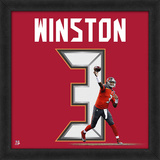Jameis Winston, Buccaneers - Framed Photographic Representation Of The Player'S Jersey Framed Memorabilia