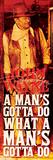 John Wayne- What a Mans Gotta Do (Slim Poster) Affiches