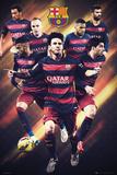 Barcelona - 15/16 Players Poster