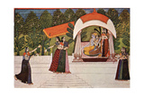 Krishna and Radha in a Pavilion Art