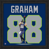 Jimmy Graham, Seahawks - Framed Photographic Representation Of The Player'S Jersey Framed Memorabilia