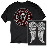 The Walking Dead- Daryl Faux Patch & Wings (Front/Back) T-skjorter