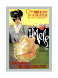 Rich Assortment in Umbrellas from Mele Poster von Leopoldo Metlicovitz