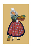 A Young Girl from Champagne Carries Gourds Posters by Elizabeth Whitney Moffat