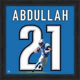 Ameer Abdullah, Lions - Framed Photographic Representation Of The Player'S Jersey Framed Memorabilia